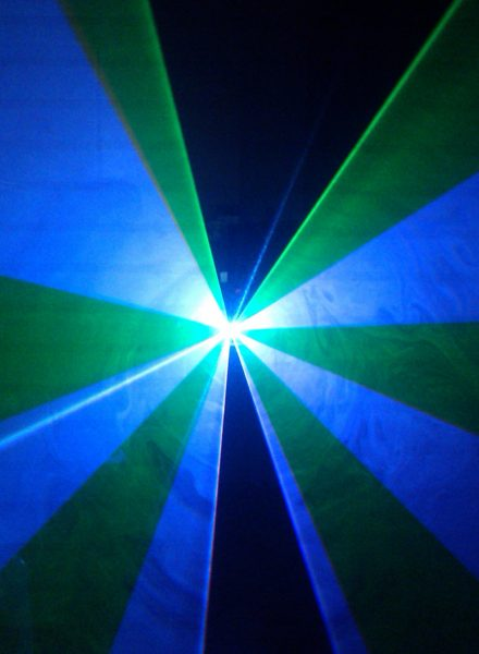 Colour laser cone projected by our new colour laser
